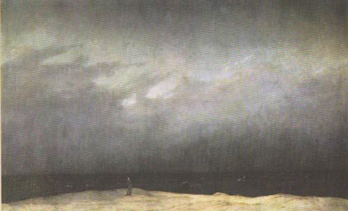 Caspar David Friedrixh Monaco in riva al mare 1809-1810